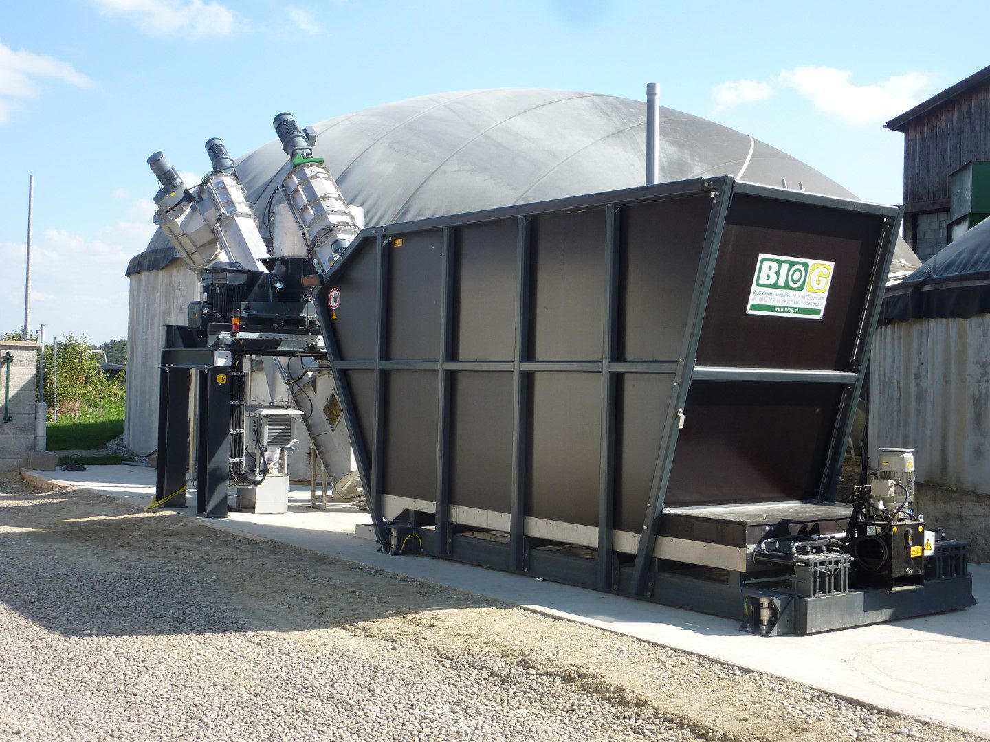 Biogas plant BIOCRUSHER complete system Mossbauer